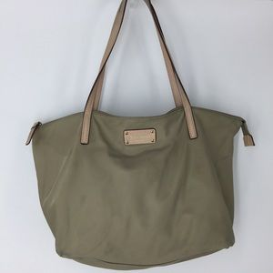 Kate Spade nylon tote packable taupe shopper purse